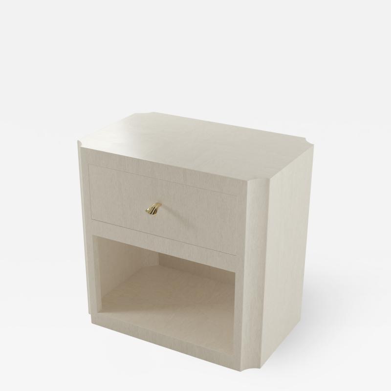 Paul Marra Design Scalloped Corner Nightstand