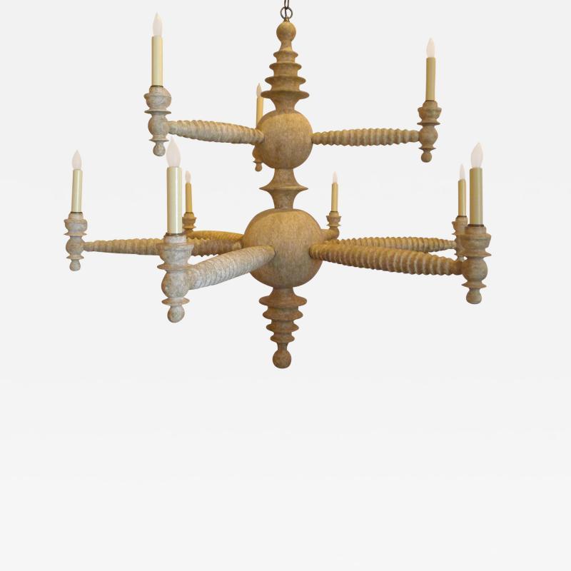 Paul Marra Design Spool Chandelier Two Tier by Paul Marra