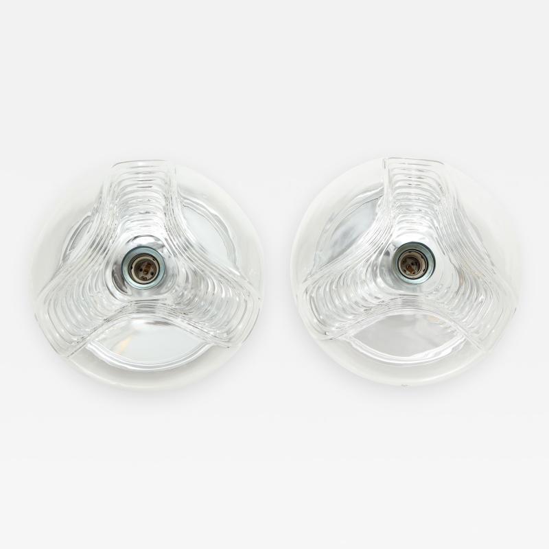 Peill Putzler Pair of Extra Large Peill Putzler Wave Lights Sconces