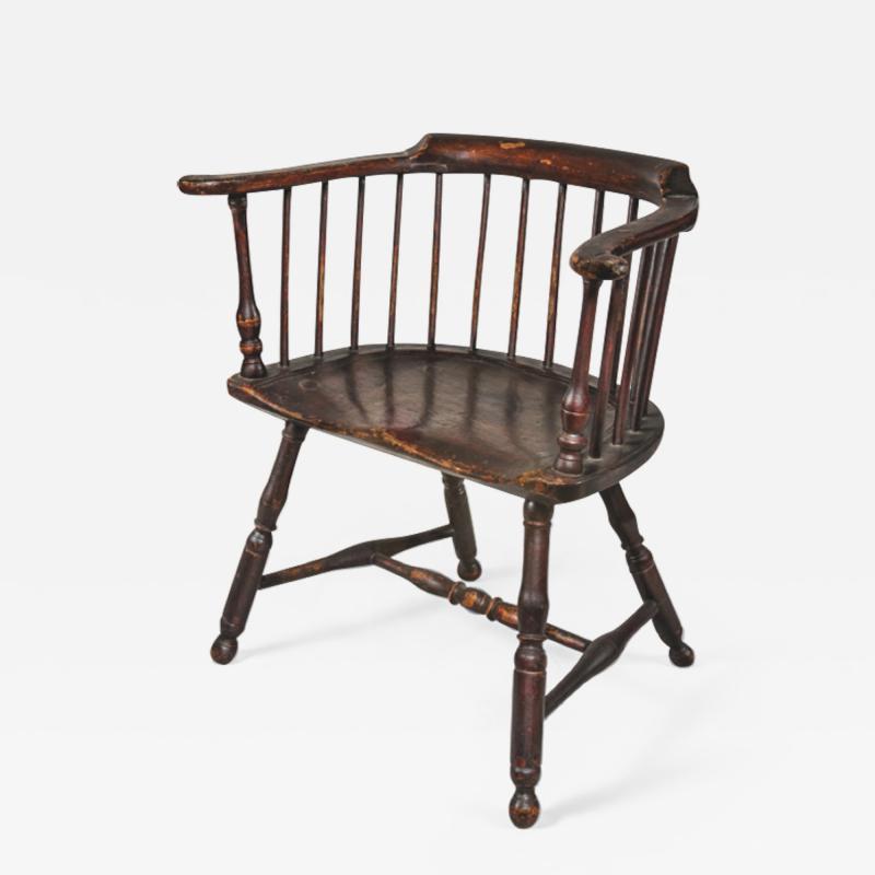 Philip Bradley Antiques Philadelphia Windsor low back Armchair attrib to Thomas Gilpin c 1760