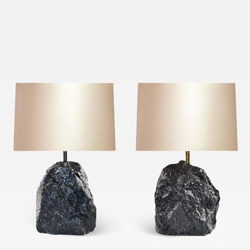 Phoenix Gallery Dark Rock Crystal Lamps by Phoenix