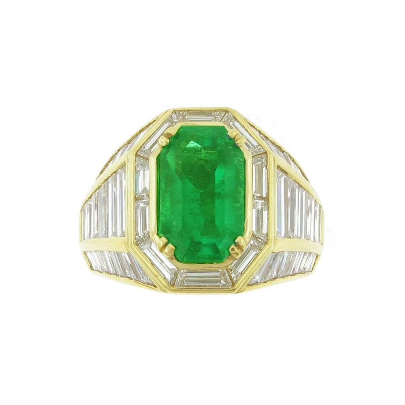 Picciohitti Picchiotti Emerald Diamond Gold Ring