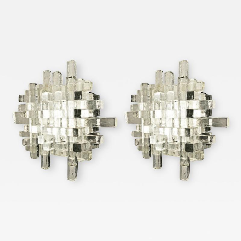 Poliarte Pair of Poliarte Wall Lights Italy 1960s
