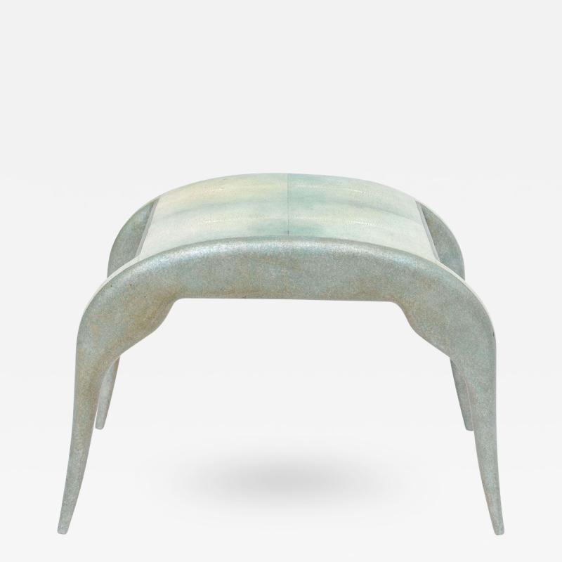 R Y Augousti French Modern Shagreen Bench by R and Y Augousti