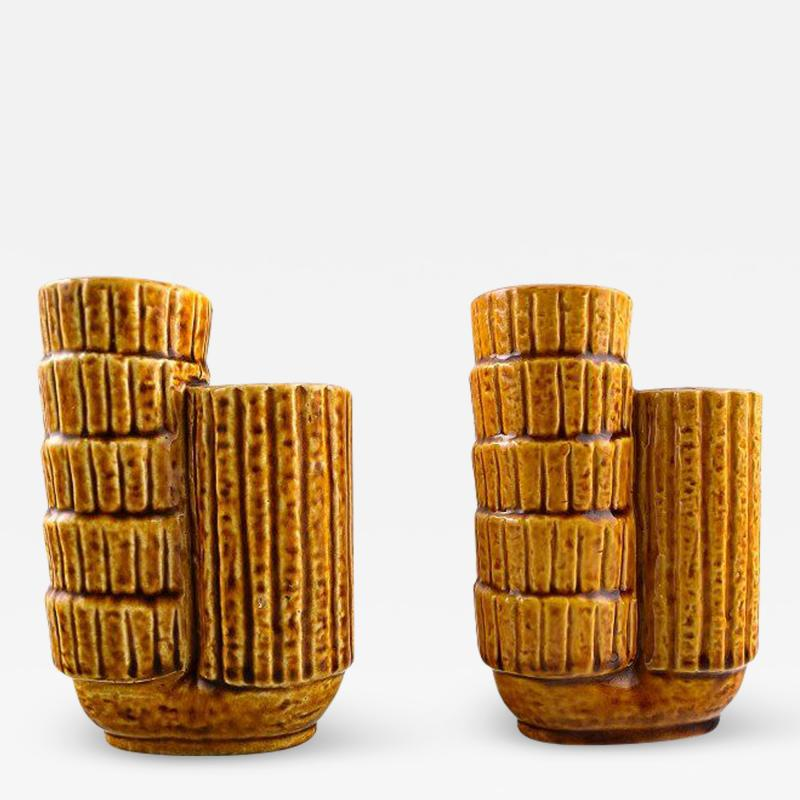 R rstrand A pair of Chamotte vases