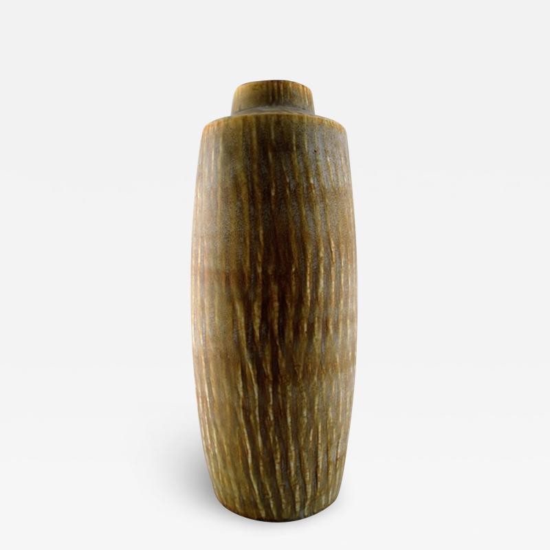 R rstrand Large R rstrand stoneware vase by Gunnar Nylund