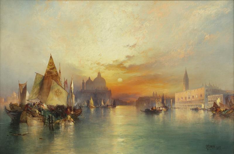 Rainone Galleries Inc Thomas Moran Venice 1897