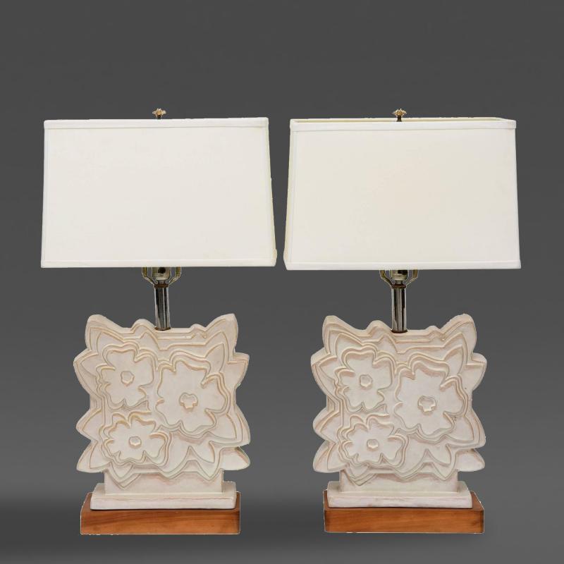 Raymor Pair of Italian Modern Ceramic Lamps Raymor