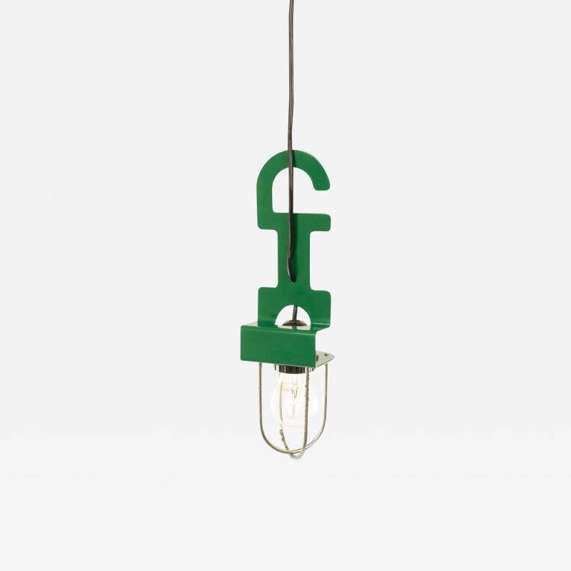 Reggiani Green pendant or table lamp by Reggiani 1970s