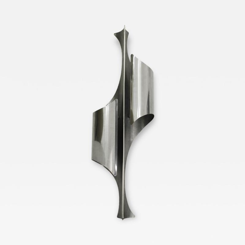 Reggiani Italian Single Sconce Designed by Reggiani In Chrome