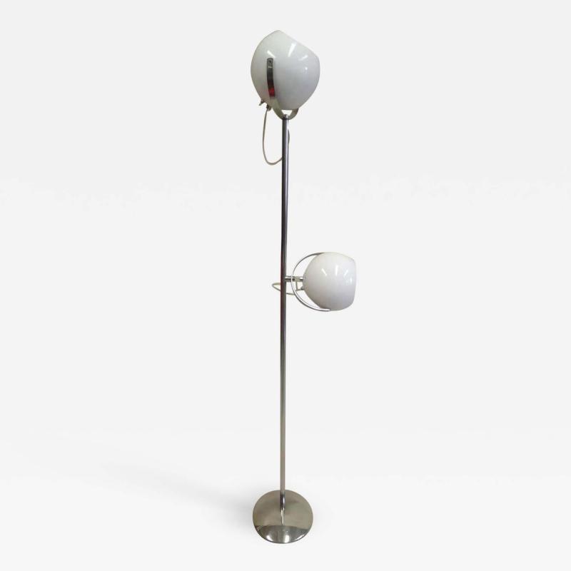 Reggiani Pair of Italian Mid Century Modern Space Age Floor Lamps by Reggiani