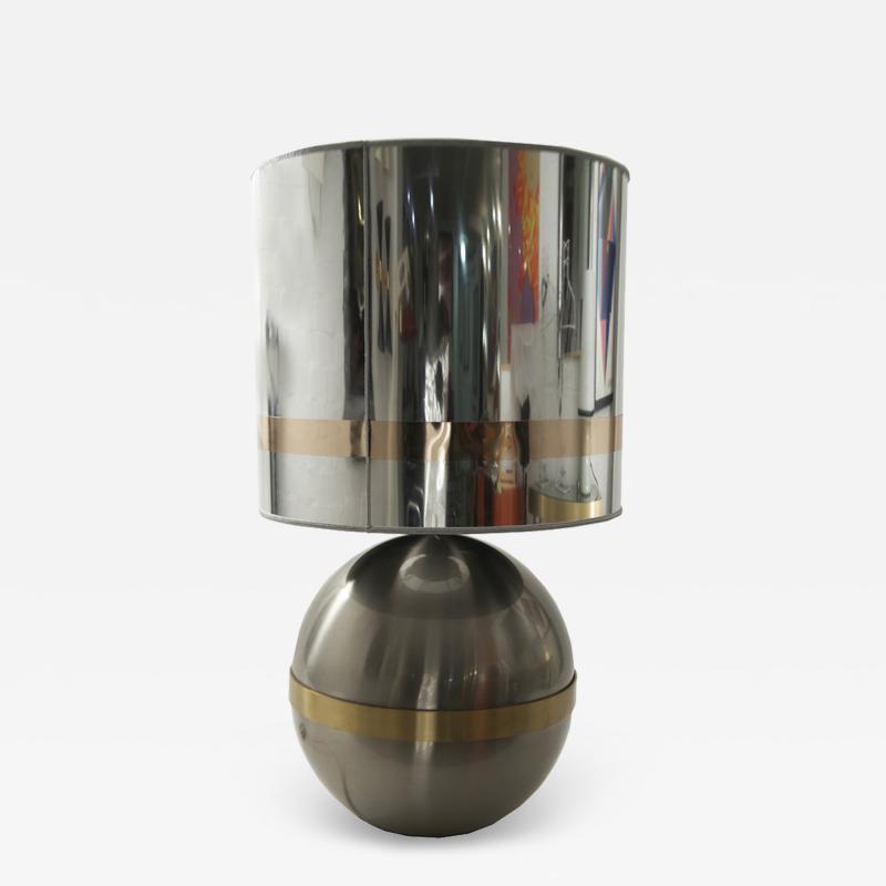Reggiani REGGIANI SPHERICAL CHROME WITH BRASS TABLE LAMP