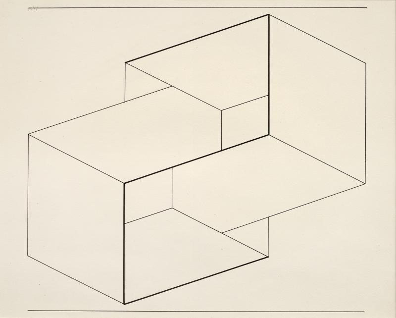Robert Elkon Gallery Drawing of a Structural Constellation I II pair of drawings by Joseph Albers