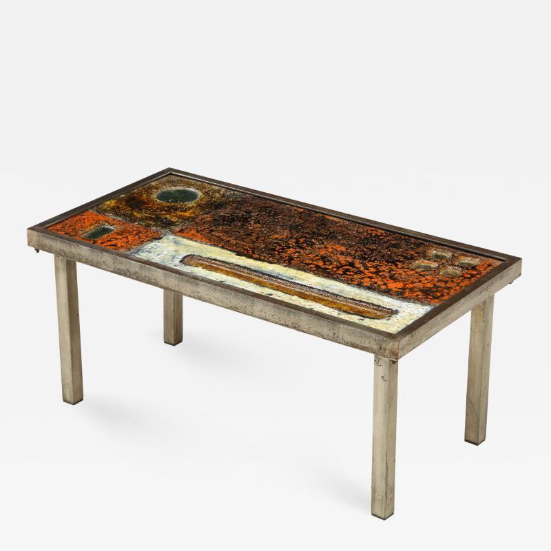 Robert Jean Cloutier Enameled Lava Coffee Table by Robert Jean Cloutier c 1960
