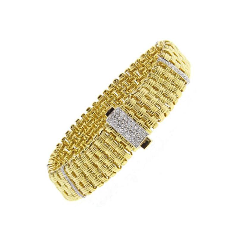 Roberto Coin Roberto Coin Appassionata Five Row Diamond Gold Bracelet