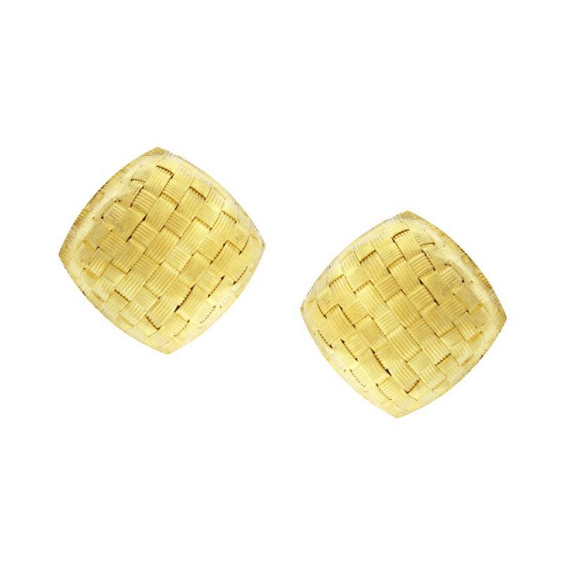 Roberto Coin Roberto Coin Basket Weave Earrings