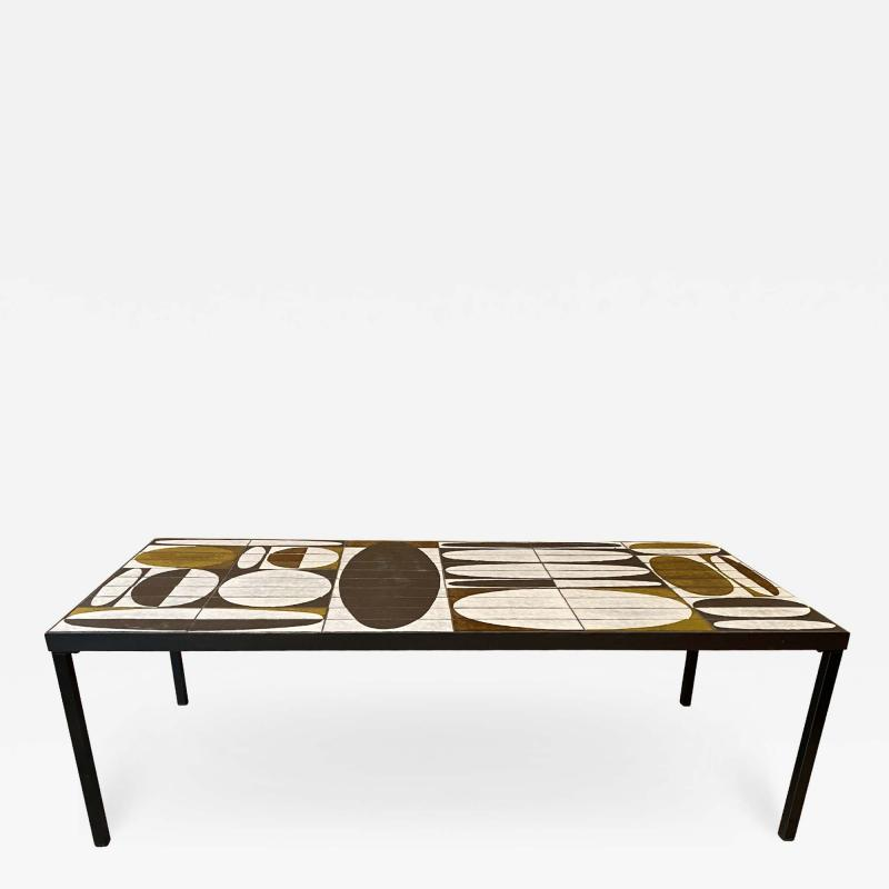 Roger Capron Ceramic Coffee Table France early 60s