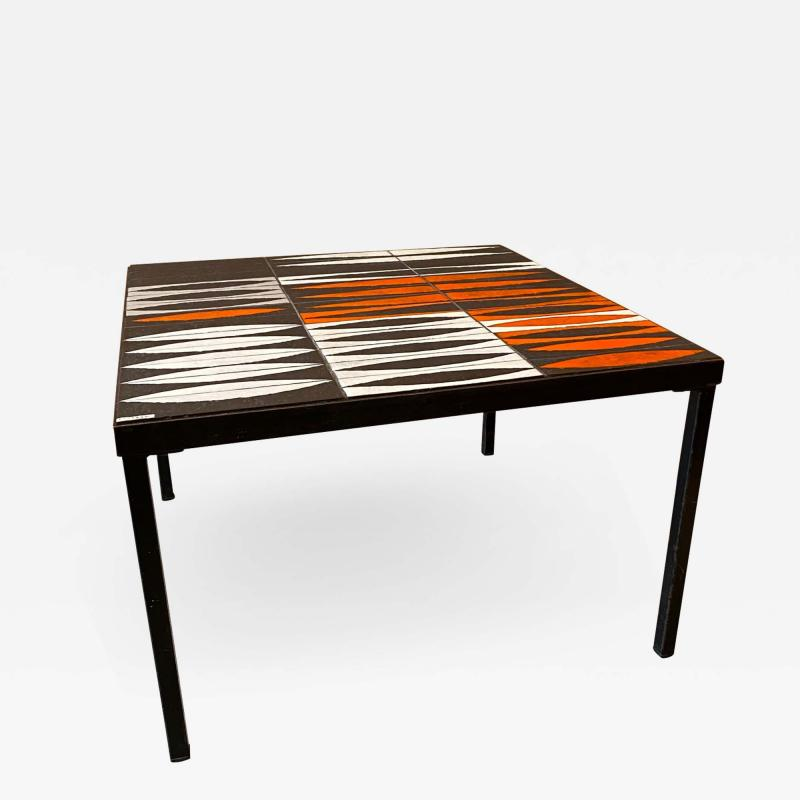 Roger Capron Ceramic Coffee Table Navettes France 1960s
