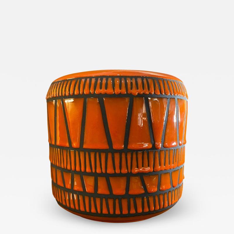 Roger Capron Ceramic Vase Flowerpot France 1960s