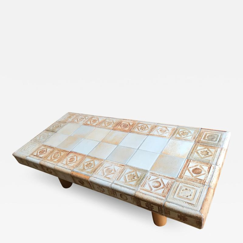 Roger Capron Ceramic coffee table France 1960s