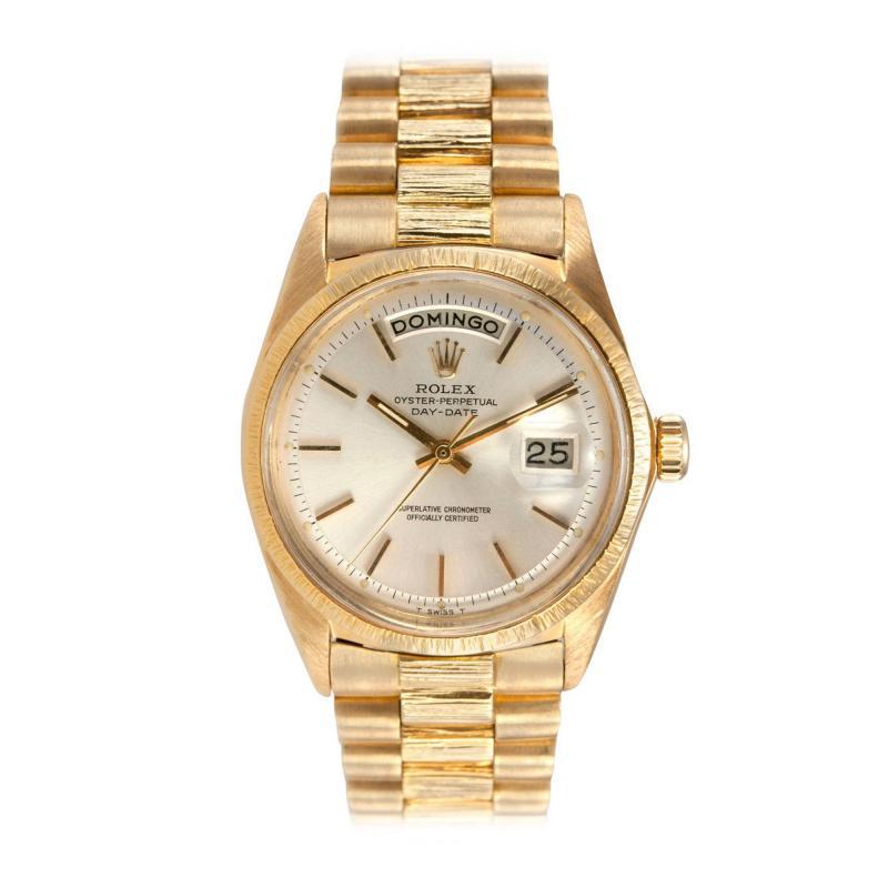 Rolex Rolex Gold President Watch Spanish Day Wheel and Bark Finish Ref 1807 1962