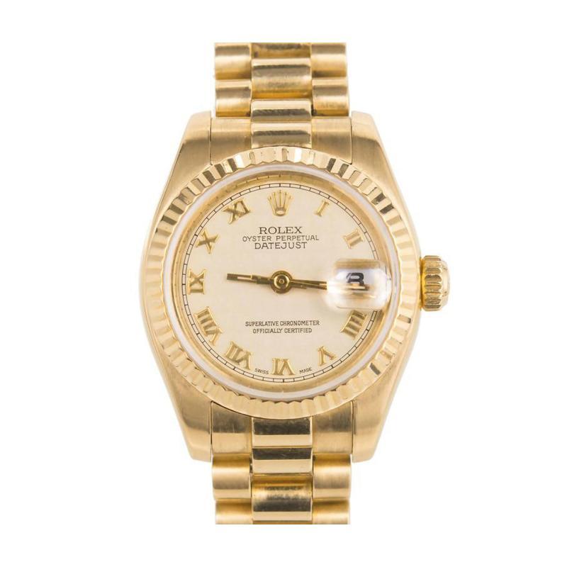 Rolex Rolex Ladys Yellow Gold Datejust Wristwatch Ref 179178 circa 2002