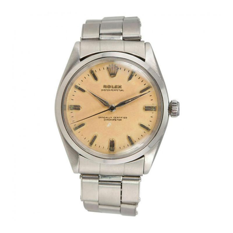 Rolex Rolex Stainless Steel Oyster Perpetual Wristwatch Circa 1958