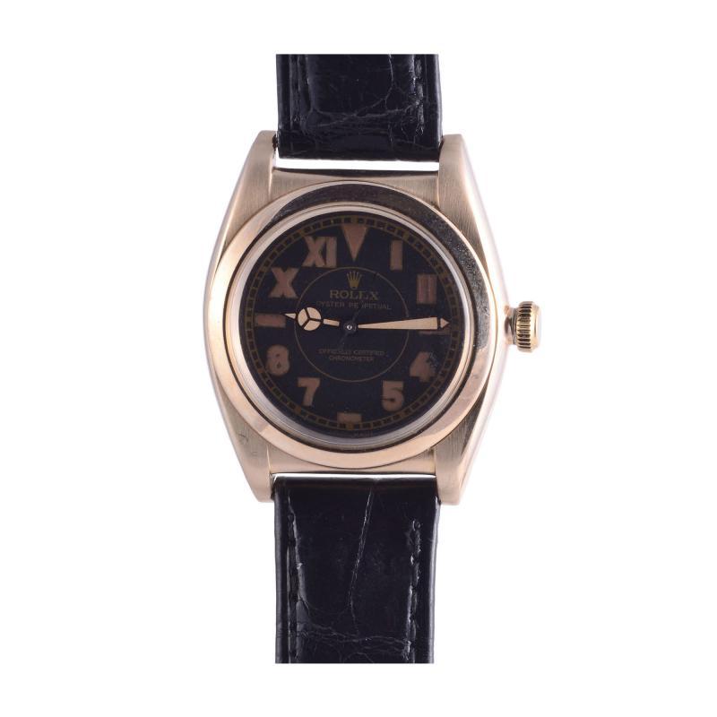 Rolex Watch Co Rolex Collectors Edition 14K Gold Wrist Watch with Mercedes Hands