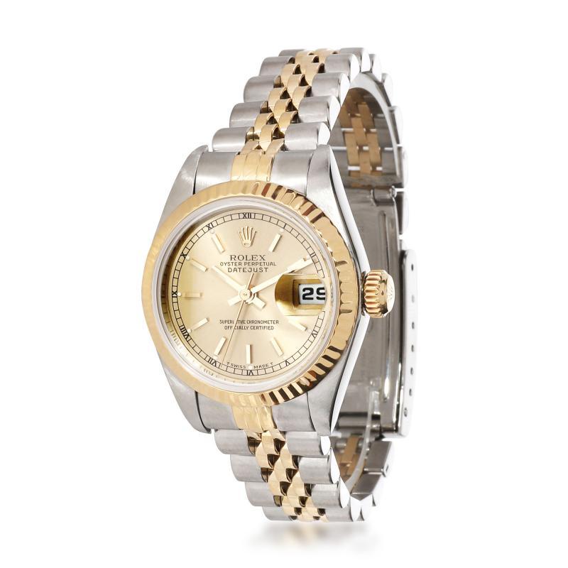 Rolex Watch Co Rolex Datejust 69173 Womens Watch in 18kt Stainless Steel Yellow Gold