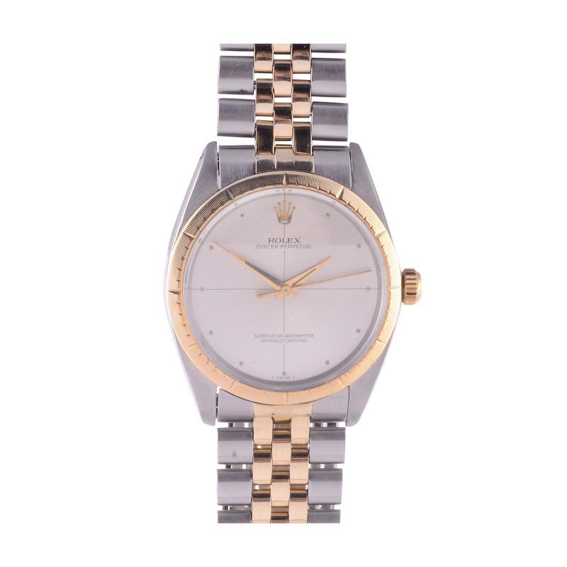 Rolex Watch Co Rolex Oyster 14K Steel Wrist Watch with Original Certificate