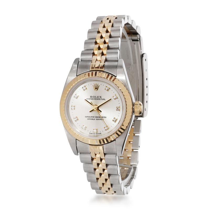 Rolex Watch Co Rolex Oyster Perpetual 76193 Womens Watch in 18kt Stainless Steel Yellow Gold