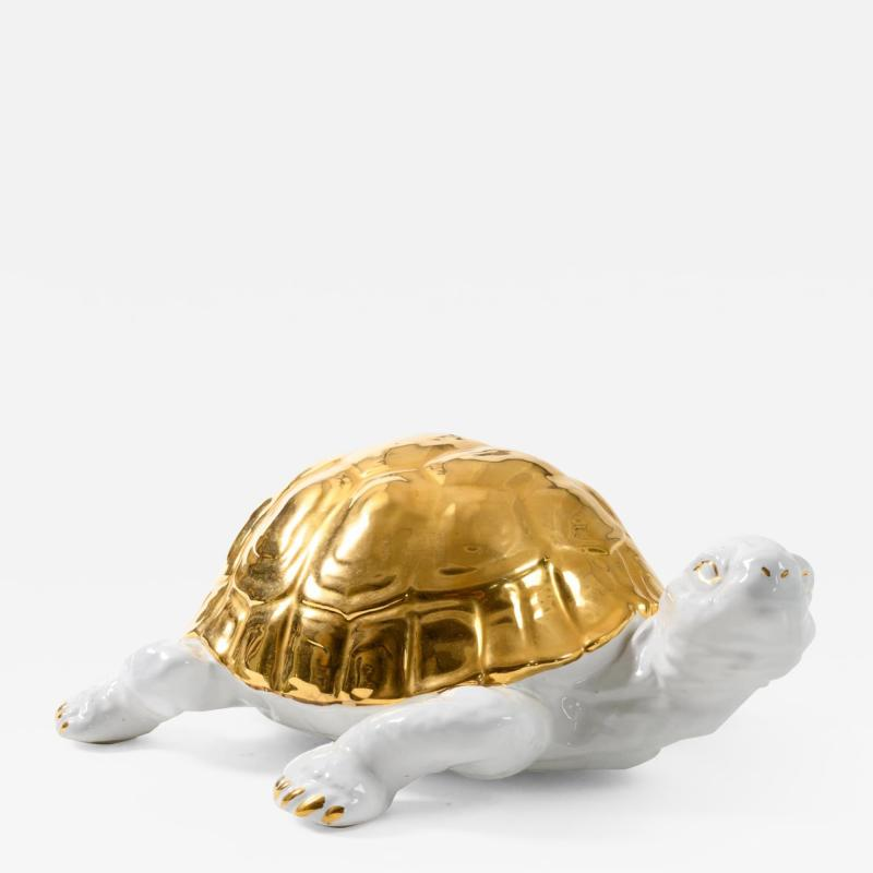 Ronzan Ceramic tortoise with gold detailing by Ronzan