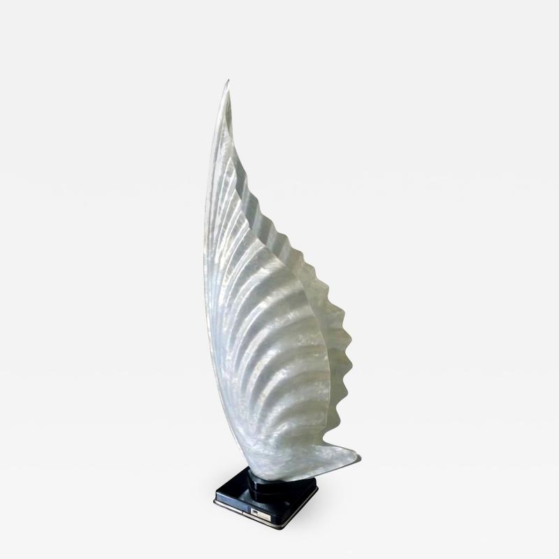 Rougier Single Extra Large Stamped Lamp by Rougier Early Edition Circa 1960s