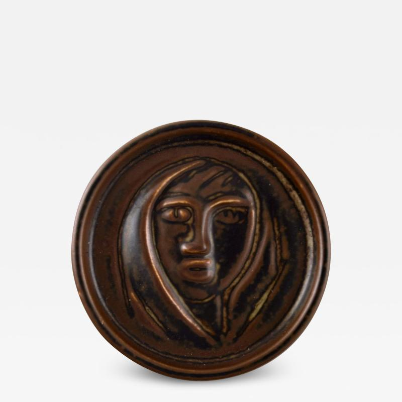 Royal Copenhagen Ceramic plaque brown glaze