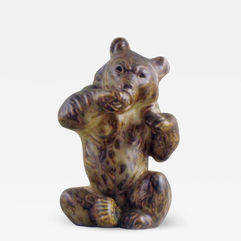 Royal Copenhagen Figurine number 21675 bear sitting