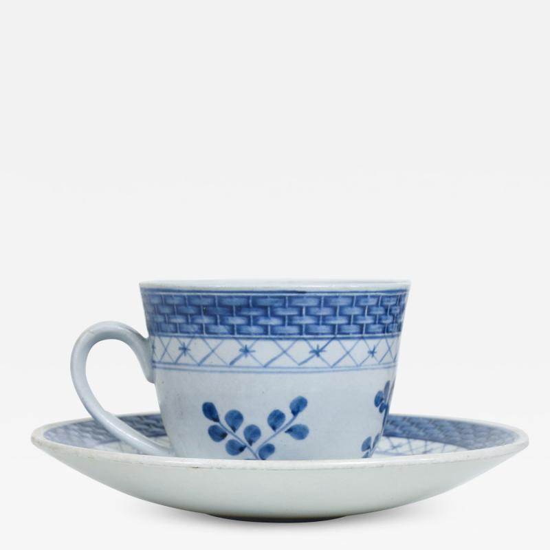 Royal Copenhagen ROYAL Copenhagen Coffee Tea Cup Saucer Set for 12 Blue Danish Modern 1960s
