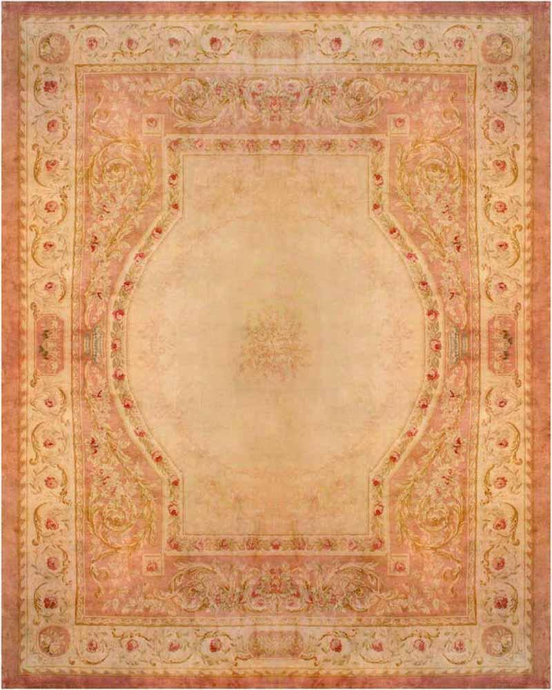 Royal Manufacture of Aubusson 19th Century French Savonnerie Rug Finest Quality Design Louis XVI