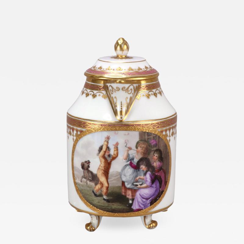 Royal Vienna Porcelain Vienna Porcelain Covered Milk Jug c 1794