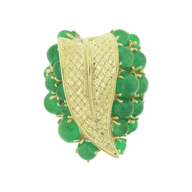 Ruser Ruser Gold and Emerald Ring