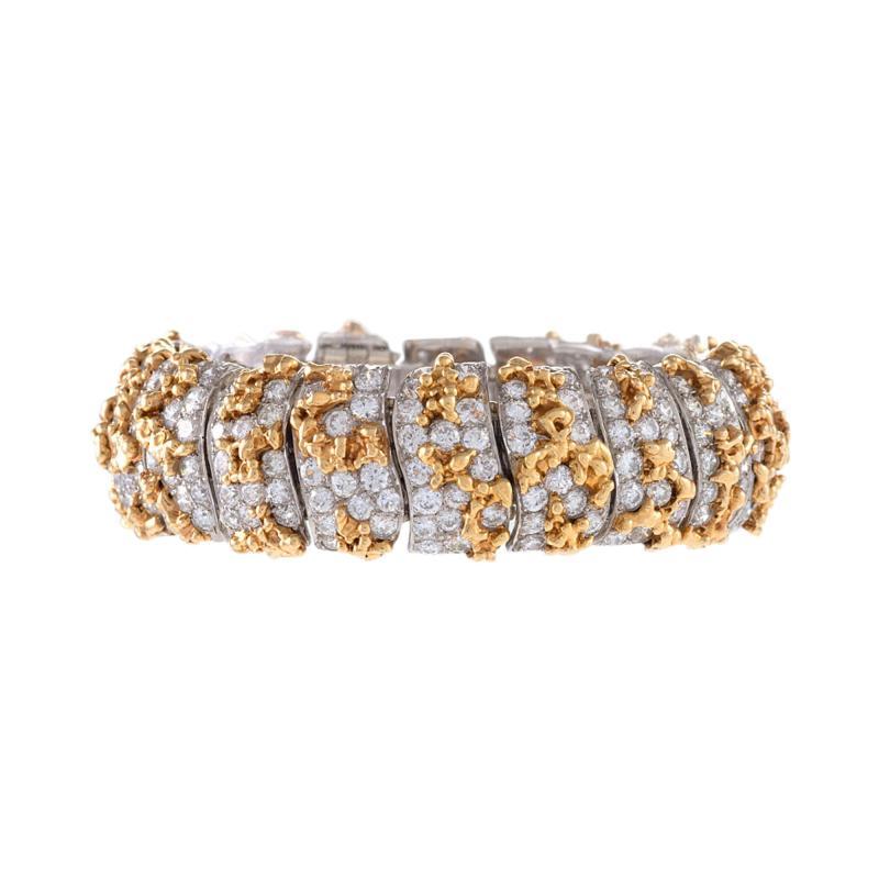 Ruser Ruser Mid 20th Century Diamond and Gold Bracelet