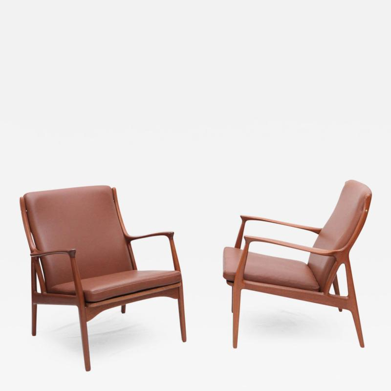 S A Andersen Erik Andersen and Palle Pedersen Pair of S A Andersen Lounge Chairs
