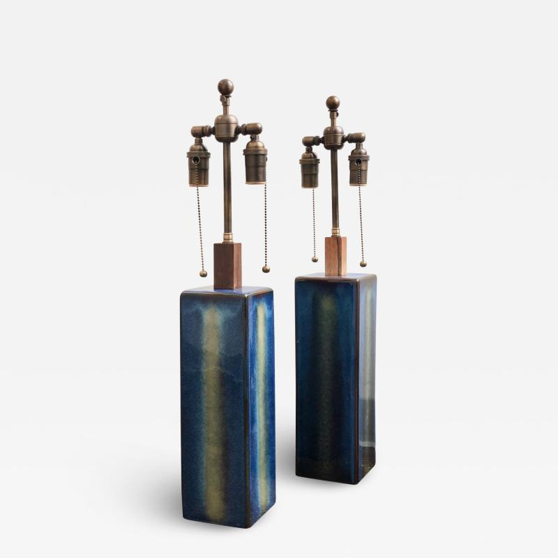 S holm Stent j Soholm ceramics A pair of large table lamps by Soholm