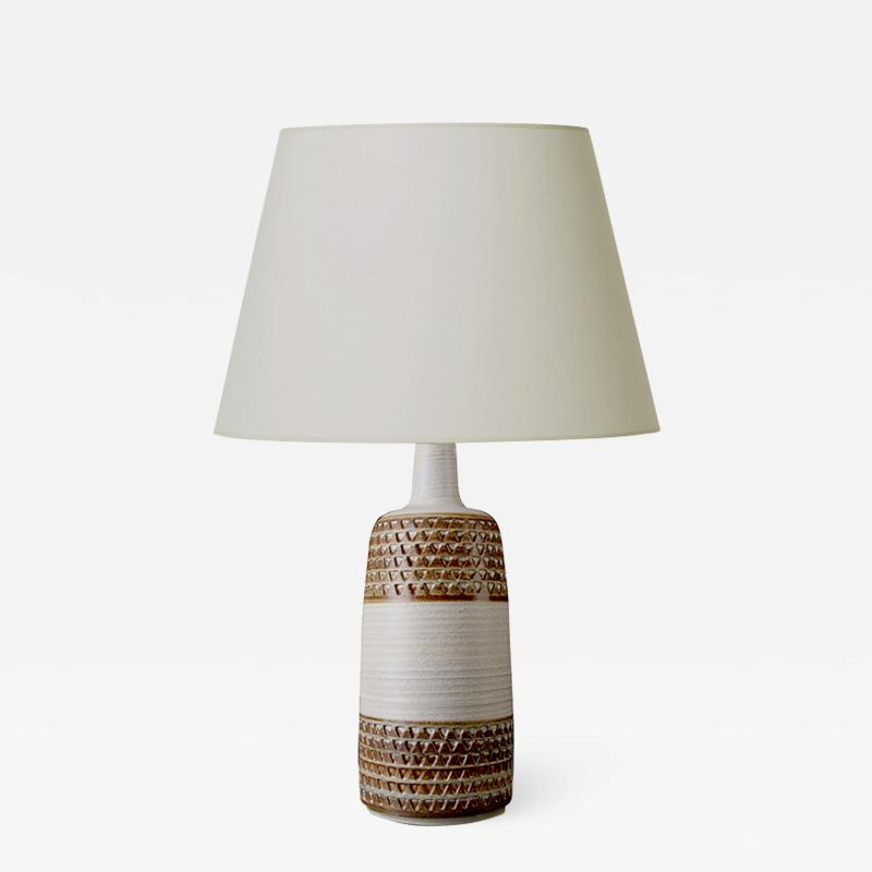 S holm Stent j Soholm ceramics Pair of table lamps with intaglio by S holm