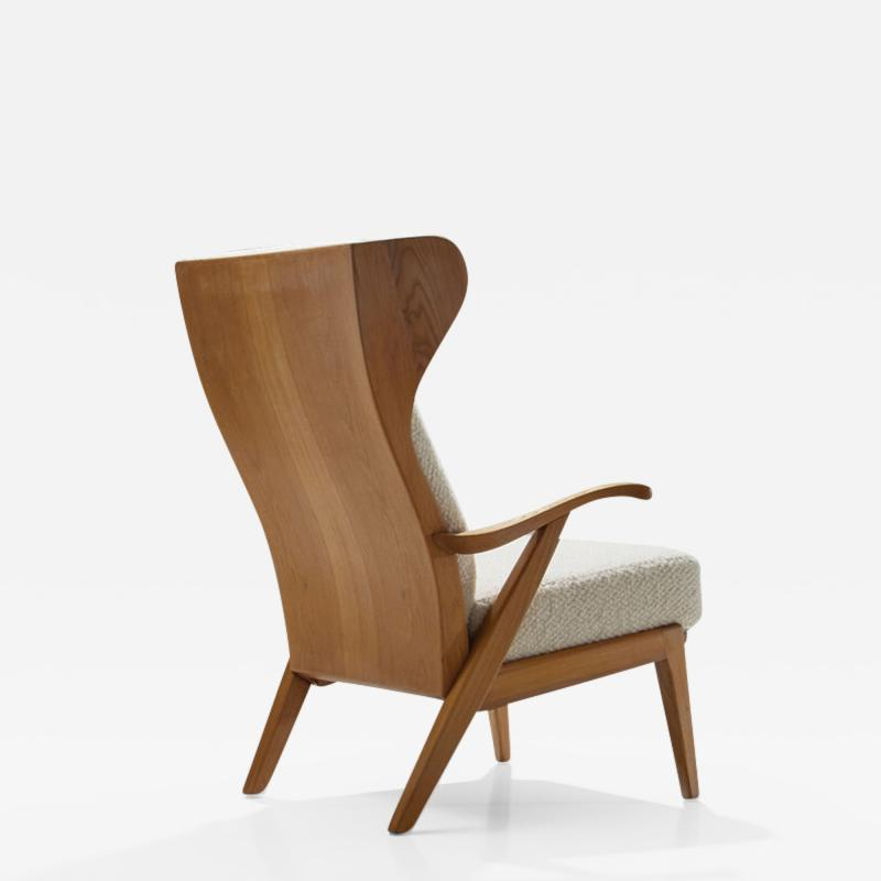 S ren Willadsen M belfabrik Wingback Chair by Danish Cabinetmaker S ren Willadsen Denmark 1960s