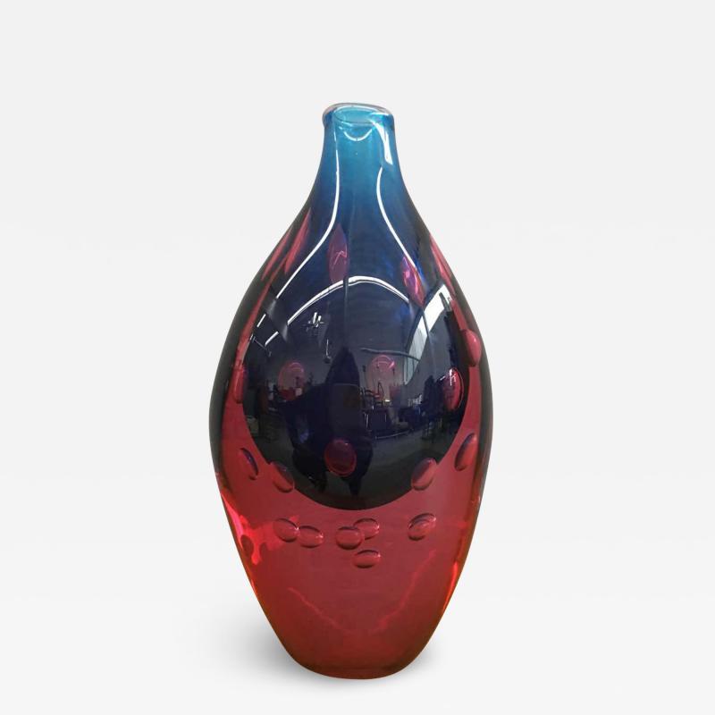Salviati Stunning Murano Glass Vase Attributed to Salviati