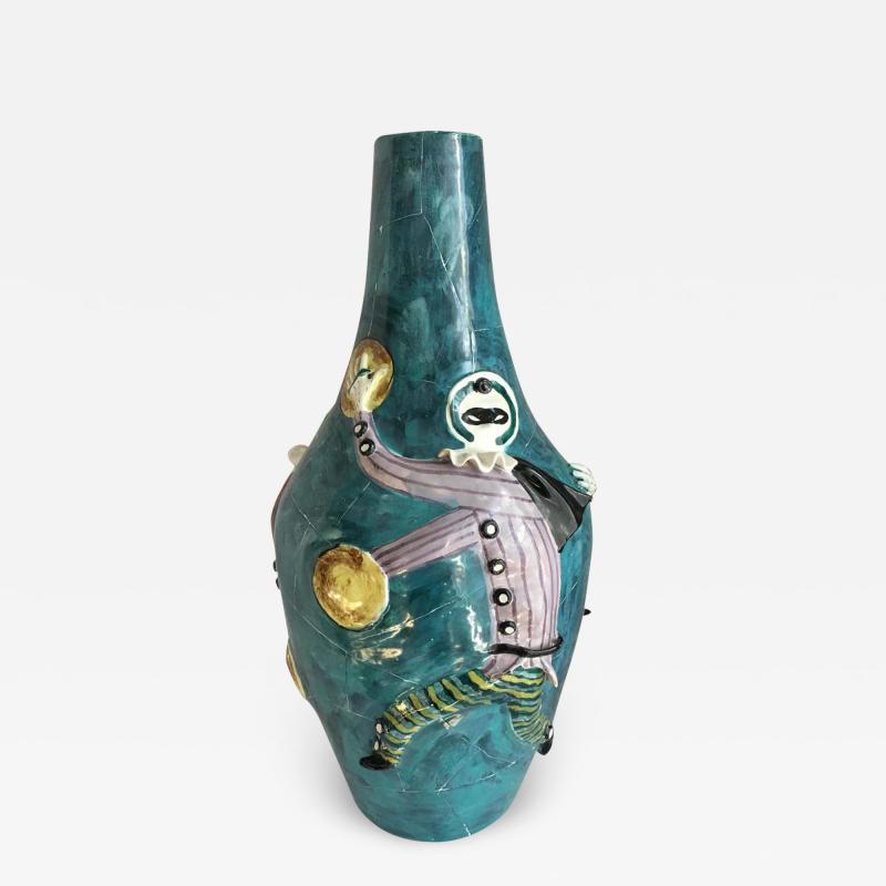 San Polo San Polo Venezia Italian Harlequin Ceramic Vase