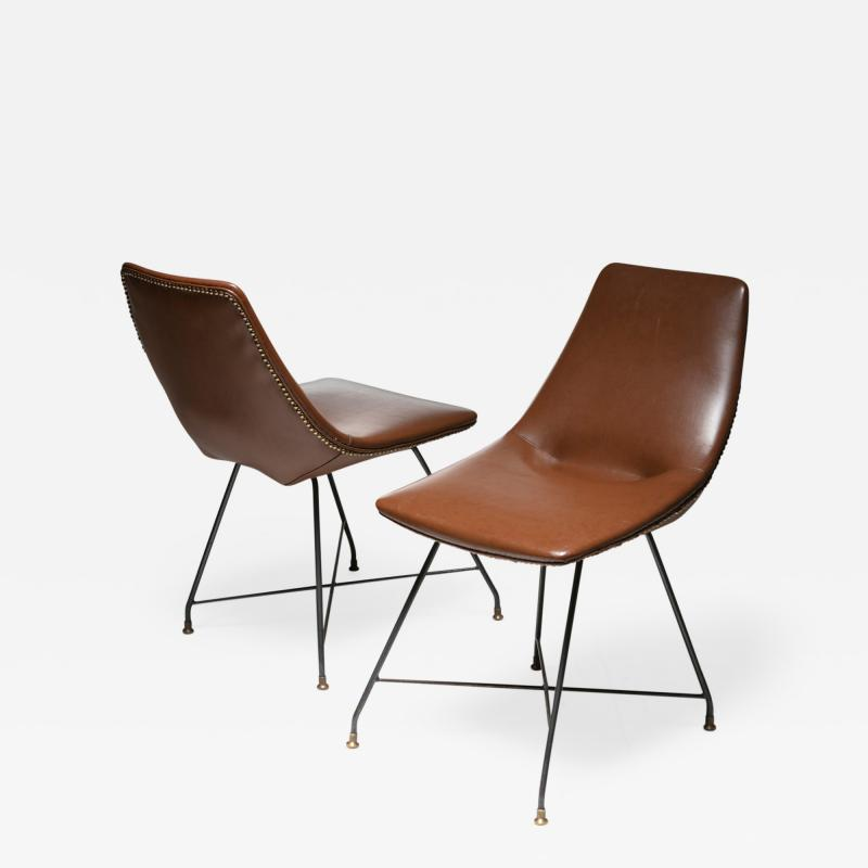 Saporiti Pair of Aster chairs by Augusto Bozzi for Saporiti
