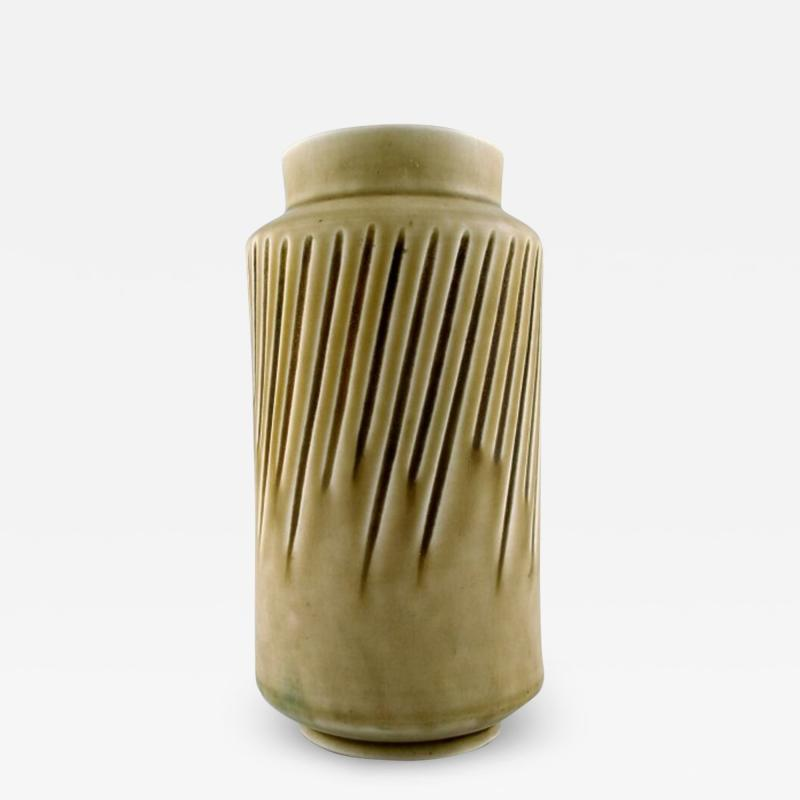 Saxbo Eva St hr Nielsen for Saxbo large stoneware vase in modern design