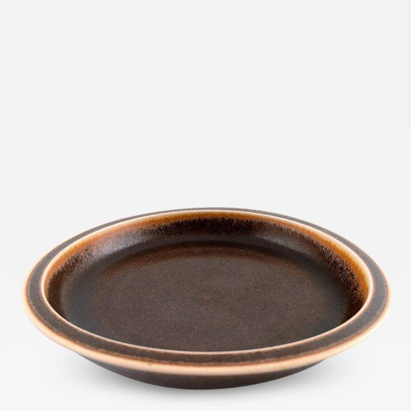 Saxbo Large ceramic dish bowl beautiful brown glaze