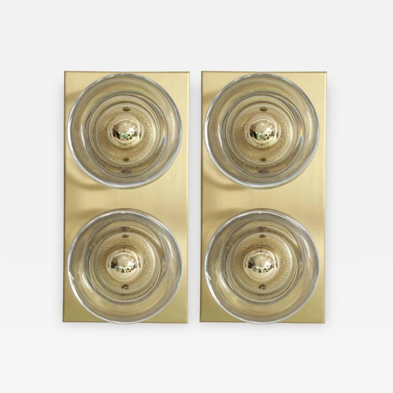 Sciolari Lighting Sciolari Cosack Brass and Glass Sconces